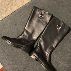 Ralph Lauren Black Leather Riding Boots Sz 7